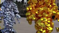 搞笑动漫:金银人物之间的走路碰撞
