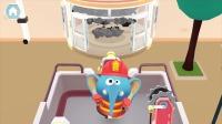 熊猫消防队:大象快去帮忙灭火!