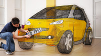 牛人花式秀操作,用3D打印笔打造汽车,成品亮相惊艳众人!