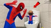 蜘蛛侠着急上厕所,结果遇到了超级病毒