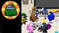 AmongUs我们之中游戏动画:太空人飞船激战僵尸军团