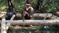 木屋建造 丛林工艺 建造一个实用经济的木屋 第2部分 安装地板搁梁