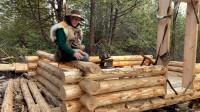 木屋建造 丛林工艺 建造一个实用经济的木屋 第4部分 提高和开槽的原木