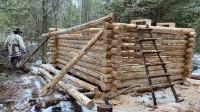 木屋建造 丛林工艺 建造一个实用经济的木屋 第6部分 完成墙壁建造