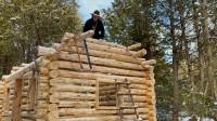木屋建造 丛林工艺 建造一个实用经济的木屋 第8部分 山墙端部 椽子建造