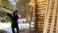 木屋建造 丛林工艺 建造一个实用经济的木屋 第10部分 开始建造走廊