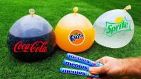 可乐气球有多少种玩法?小伙用不同口味分别测试,网友:学到了