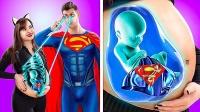当超级英雄怀孕了,会发生什么有趣的事?真人演绎爆笑不断!