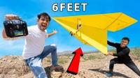 印度小伙神操作,用纸制作遥控飞机,成品太惊艳了!