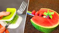 3个极具创意的厨房发明,第1个切西瓜效率高,第3个剥石榴超快