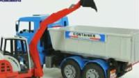 挖掘机视频1430大卡车运输挖土机+挖机工作+工程车