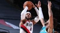 NBA:黄蜂111-123开拓者 安东尼29分 鲍尔30分
