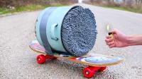 牛人用1000根仙女棒,打造超炫酷涡轮滑板,点燃后太惊艳了!