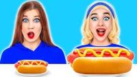趣味大盘小盘挑战,两姐妹相互恶搞,场面不要太好笑!