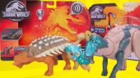侏罗纪世界恐龙玩具第22弹 甲龙VS埃德蒙顿龙