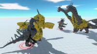 生物战争模拟器03:黄金基多拉兄弟大战哥斯拉和金刚