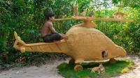 小伙为营救流浪猫,打造直升机别墅,成品太惊艳了!