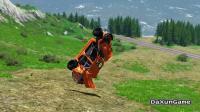 赛车在山谷飙车,没想到直接撞向岩石,报废了
