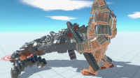 生物战争模拟器04:超级合金钢板金刚大战现代枪械,谁比较强呢