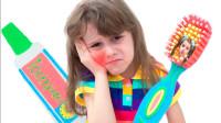 萌娃益智亲子游戏:萌宝小萝莉怎么不刷牙?牙膏和牙刷一直追着她吗?