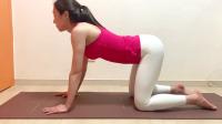 瑜伽小姐姐教体式,下班后在家可以练的瑜伽伸展动作,减肥效果好
