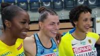 2021欧洲室内田径锦标赛(托伦) 女子跳远决赛 罗曼丘克夺冠, 米汉博摘银