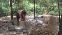 原始生活 第76集 从石头到建造一个石屋 完整视频