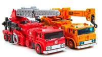 变形金刚玩具:消防车、吊车转换形态,变形汽车机器人出动吧!