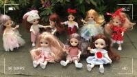 春天来啦,芭比娃娃和朋友们在公园里一起愉快的唱歌:谢谢有你