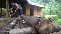 水稻哥 第123集 如何建造木制水轮