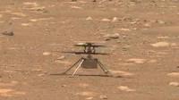 毅力号 火星 车 拍到 火星直升机在高速旋转