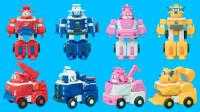 超级飞侠变形玩具 4款迷你Q版变形机器人