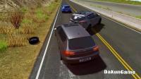 轿车失控太可怕了,还好没有发生严重的事故
