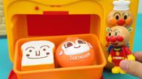 面包超人玩具故事 面包超人用语音微波炉加热早餐