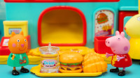 小猪佩奇玩具故事 佩奇在兔小姐汉堡店卖汉堡