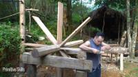 水稻哥 第124集最佳技能项目如何建造木制水轮 下集