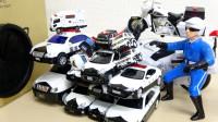 17辆警车怎么跑进1个魔法山洞?可是谁进不去呢?认识玩具车游戏
