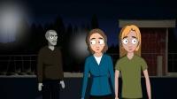 恐怖短片:游乐园里的恐怖老人,再也不晚上出去玩了!