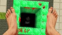 我的世界真人版:小游不小心掉进绿宝石的洞