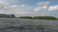 小池在海中间教同学游泳,往日宿敌从头顶飞过,错失交战的机会