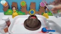 音乐为玩具:白雪可浪费火山爆发小实验材料了!