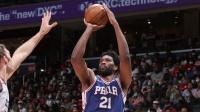 NBA:76人132-103奇才 恩比德36+8