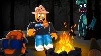 Roblox露营故事模拟器:山洞发生雪崩,我们被怪物追到了家