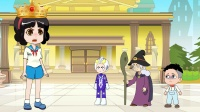 白雪公主被魔法王冠控制,攻击大头儿子