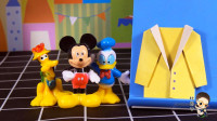 米奇带你玩折纸系列,黄色外套折纸