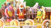 僵王博士帮沙滩红巨人和宝藏雪人僵尸吵架评理