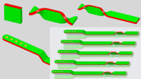 Creo7.0钣金建模实例视频教程:连杆零件