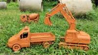 挖掘机、消防车、压路车、自卸车怎么会藏在管道里呢?