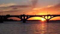 新疆之旅 伊犁河观赏伊桥落日壮观美景