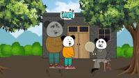 沙雕动画:小时候晚上寻宝被吓惨,至今心有余悸!